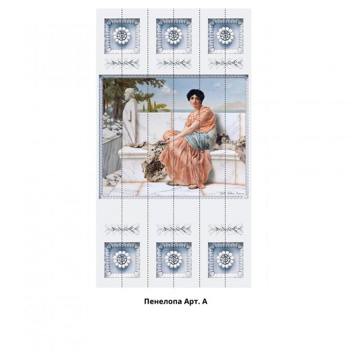Панно из ПВХ-панелей с цифровой печатью Пенелопа