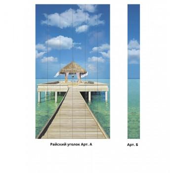 Панно из ПВХ-панелей с цифровой печатью Райский уголок