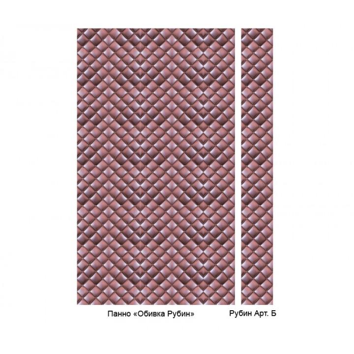 Панно из ПВХ-панелей с цифровой печатью Обивка рубин