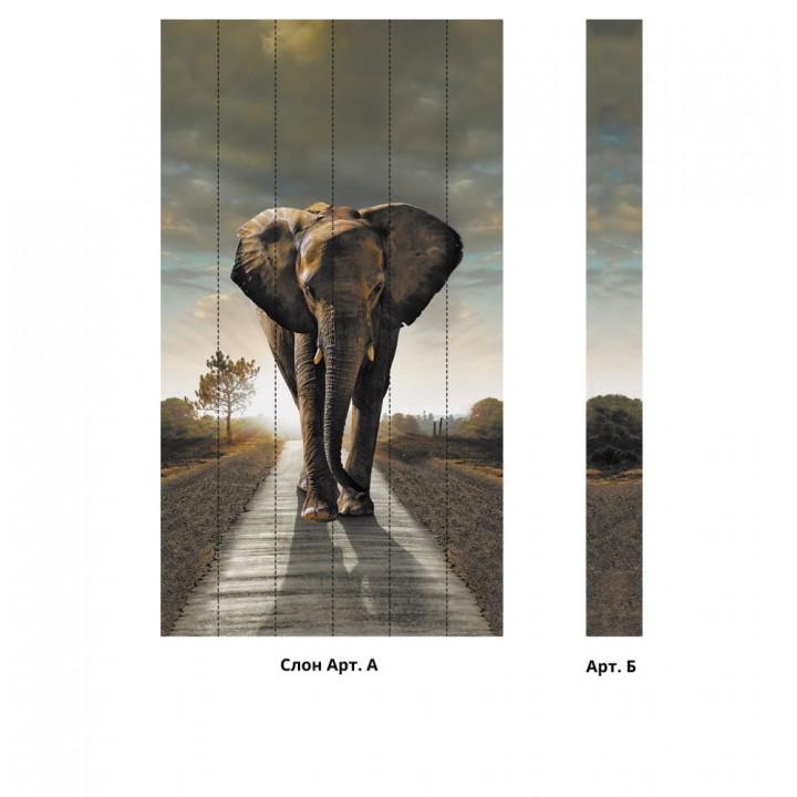 Панно из ПВХ-панелей с цифровой печатью Слон