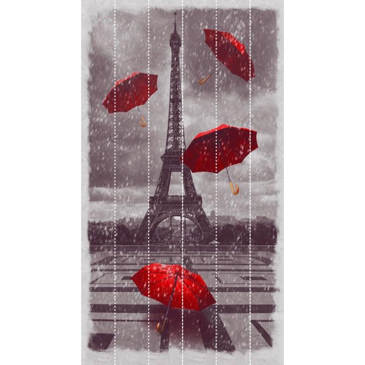 Панно из ПВХ-панелей с цифровой печатью Снег в Париже