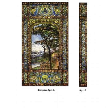 Панно из ПВХ-панелей с цифровой печатью Витраж