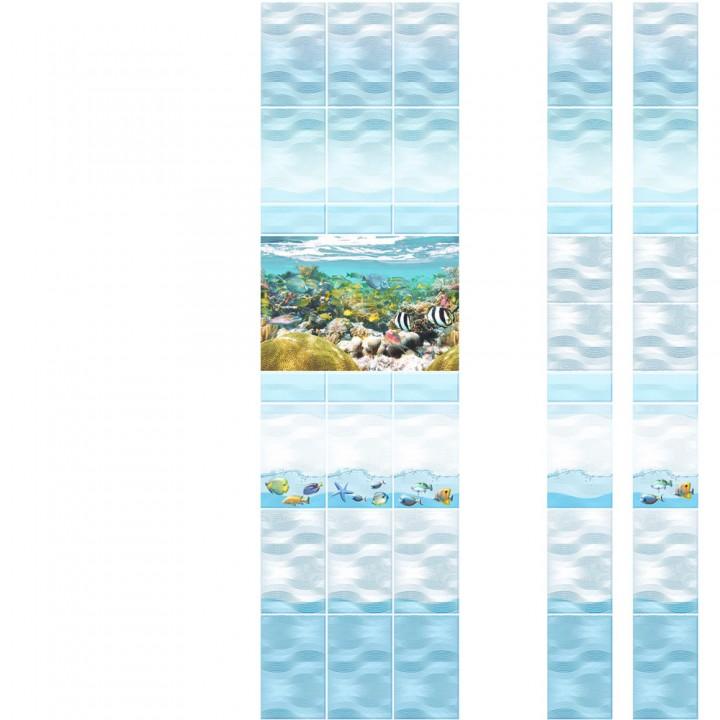 ПВХ-панели с имитацией плитки Аквариум