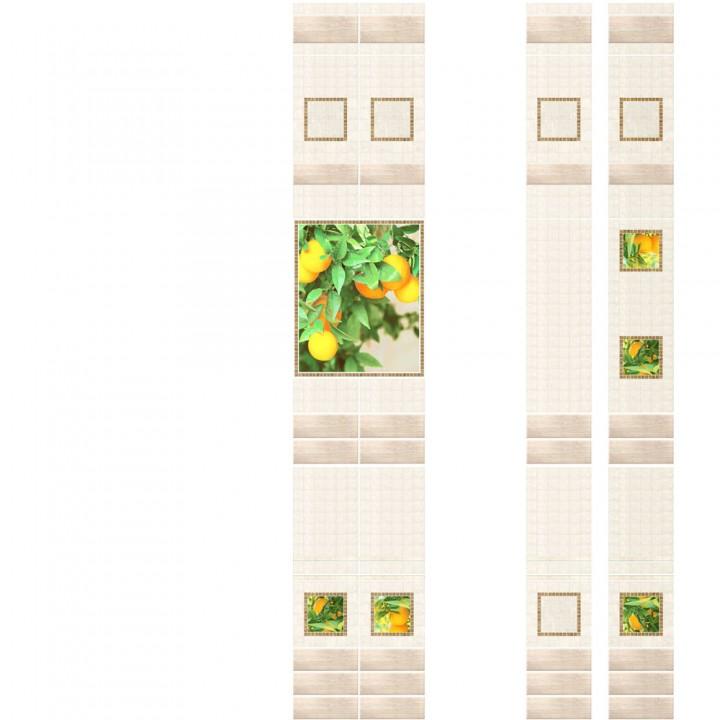 ПВХ-панели с имитацией плитки Апельсины