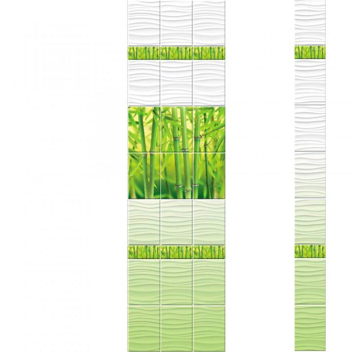 ПВХ-панели с имитацией плитки Бамбук