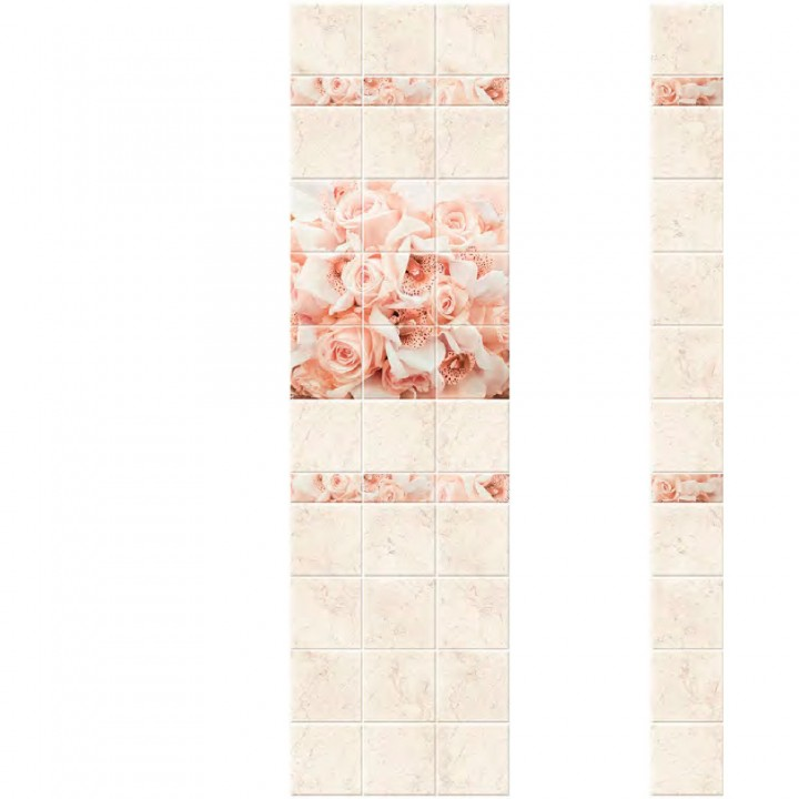 ПВХ-панели с имитацией плитки Букет
