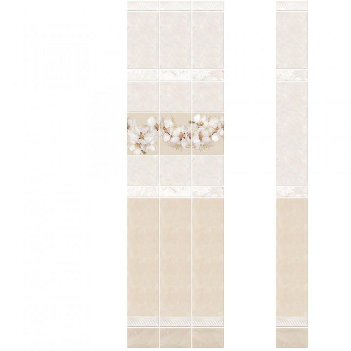 ПВХ-панели с имитацией плитки Фелиция Вишня