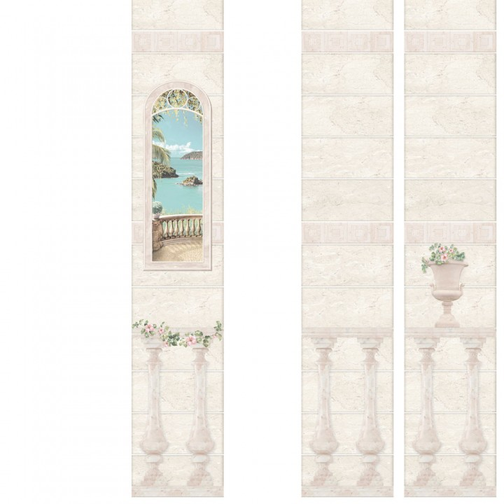 ПВХ-панели с имитацией плитки Феодосия 3