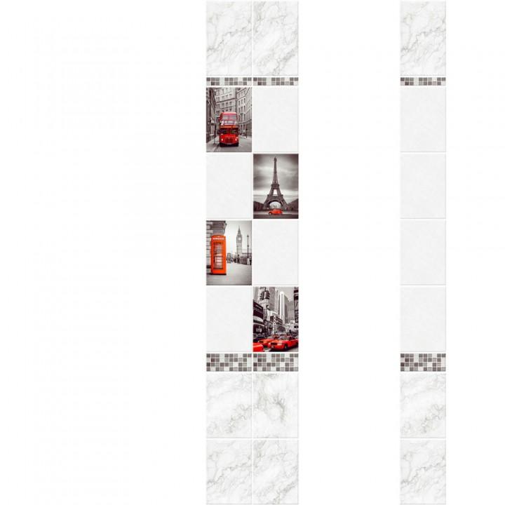 ПВХ-панели с имитацией плитки Город 2