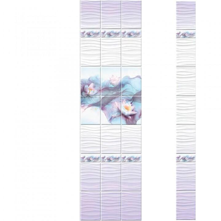 ПВХ-панели с имитацией плитки Лилии