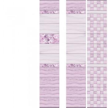ПВХ-панели с имитацией плитки Мрамор Лиловый