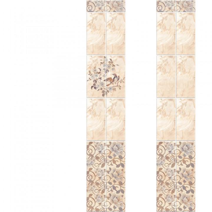 ПВХ-панели с имитацией плитки Мраморные цветы