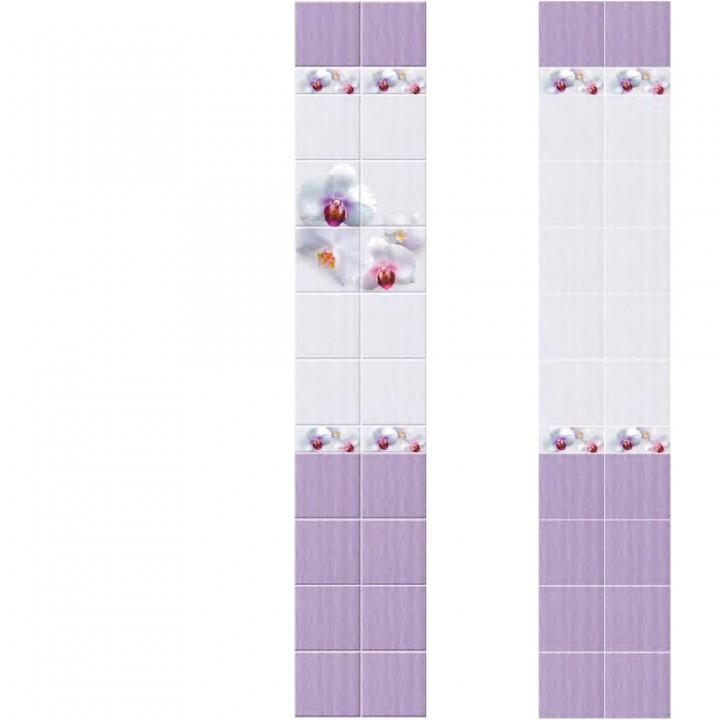 ПВХ-панели с имитацией плитки Орхидея