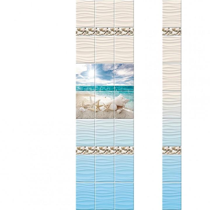 ПВХ-панели с имитацией плитки Ракушки