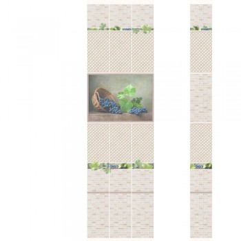 ПВХ-панели с имитацией плитки Виноград 1