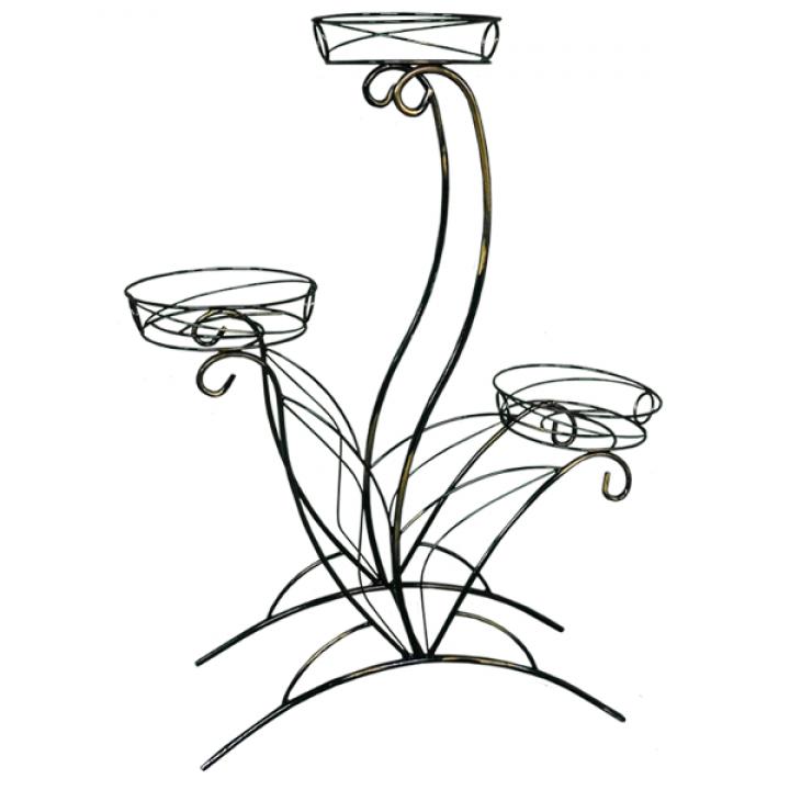 Подставка для цветов Лотос 3 ЗМИ 144