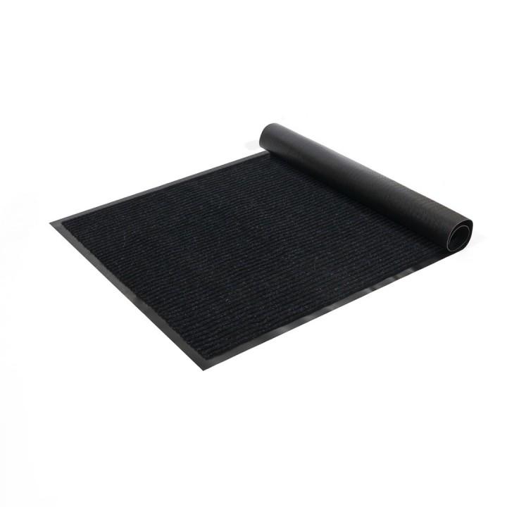 Коврик влаговпитывающий ребристый SunStep 100x200 см черный 35-083