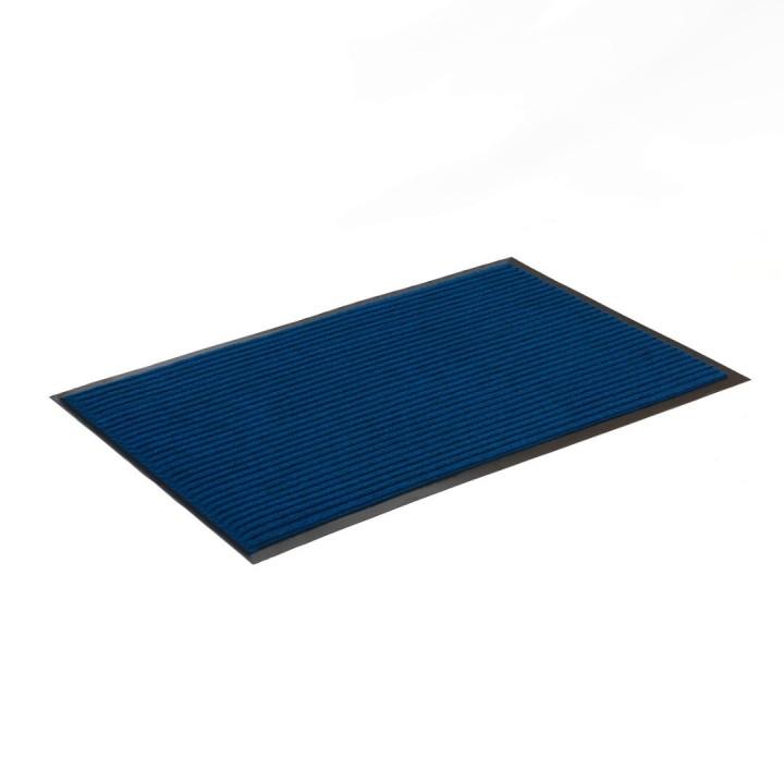 Коврик влаговпитывающий ребристый SunStep 50x80 см синий 35-045