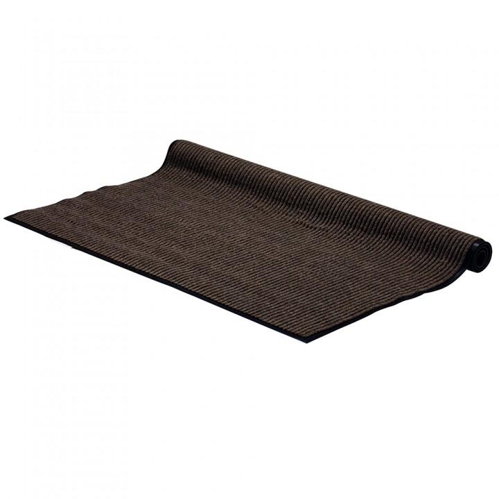 Коврик влаговпитывающий ребристый VORTEX 120*150 см коричневый 22102