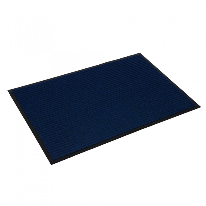 Коврик влаговпитывающий ребристый VORTEX 60х90 см синий 22088