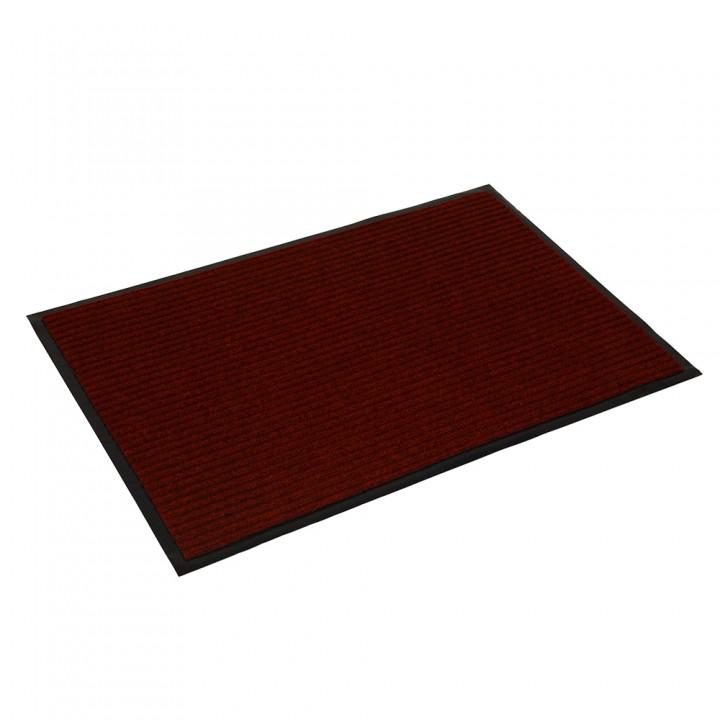 Коврик влаговпитывающий ребристый VORTEX 60х90 см красный 22089