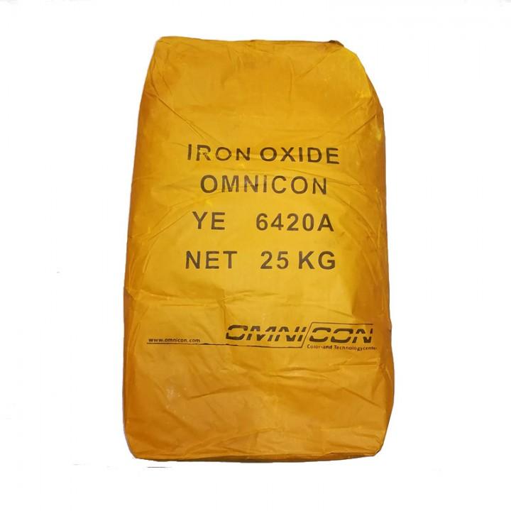 Пигмент для бетона желтый Omnicon YE 6420A расфасовка по 2,5кг