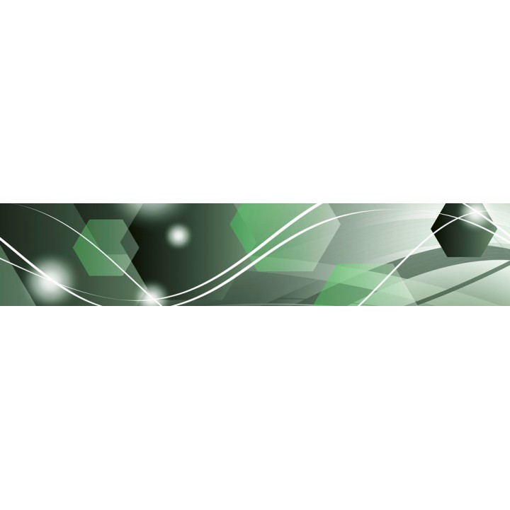 Кухонный фартук Зеленая абстракция