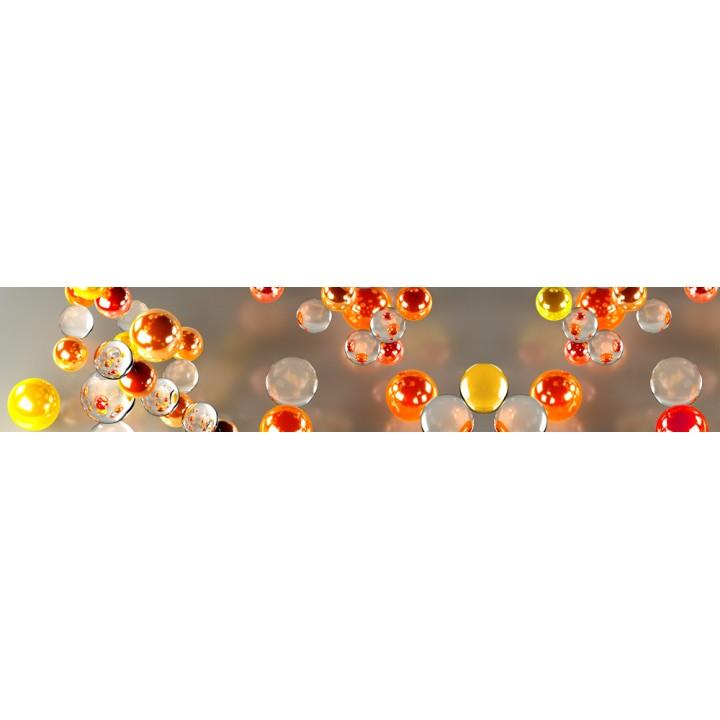 Кухонный фартук Оранжевые пузырики