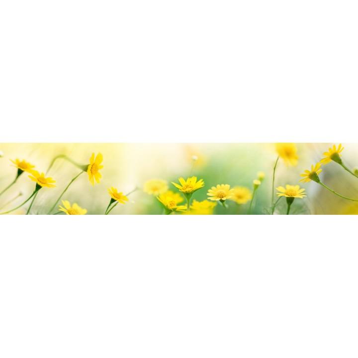 Кухонный фартук Желтые ромашки