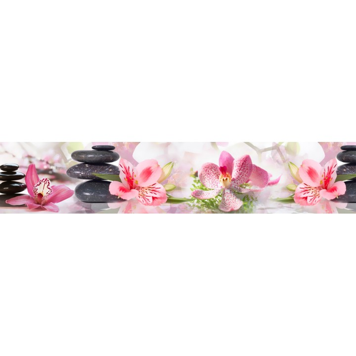 Кухонный фартук Розовые орхидеи