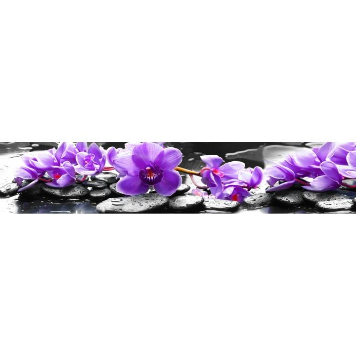 Кухонный фартук Фиолетовые орхидеи