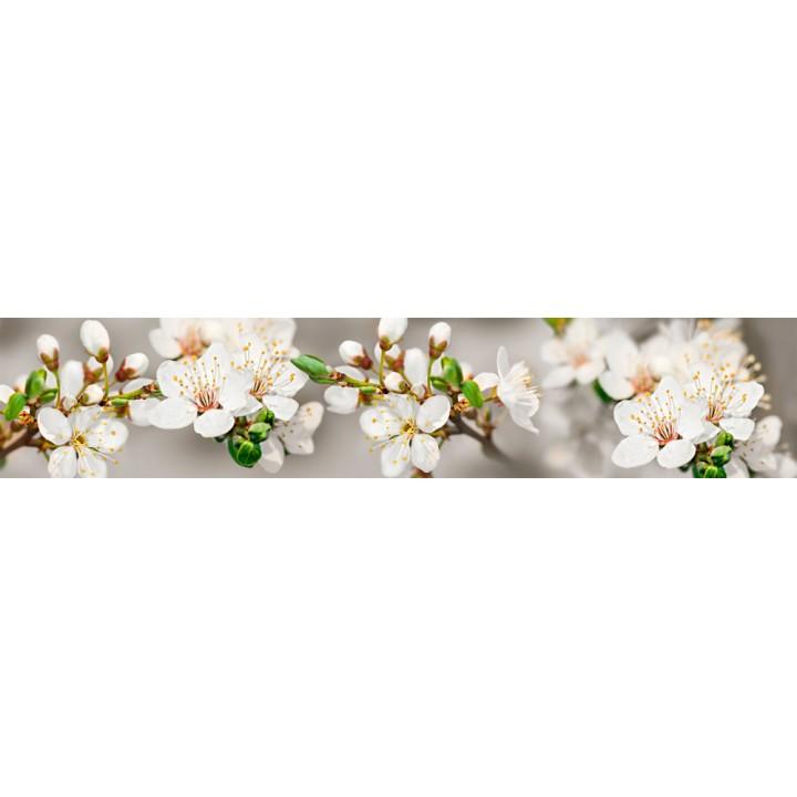 Кухонный фартук Белые цветы