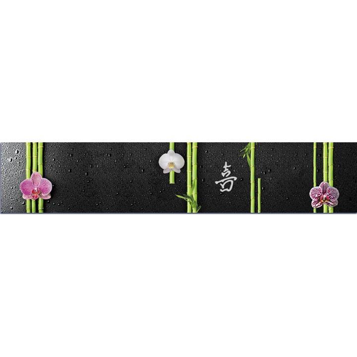 Кухонный фартук Орхидеи и бамбук