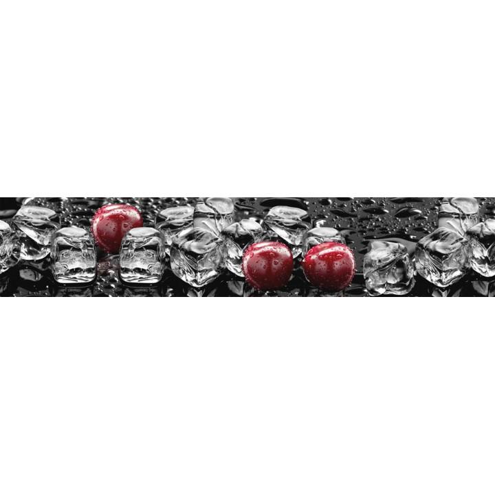 Кухонный фартук Лед и вишня