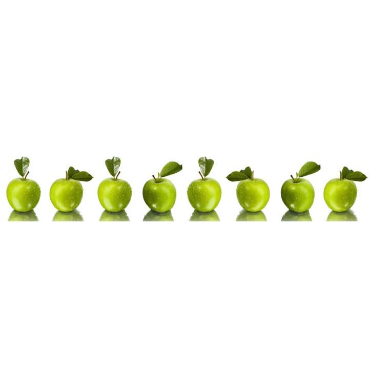 Кухонный фартук Зеленые яблоки
