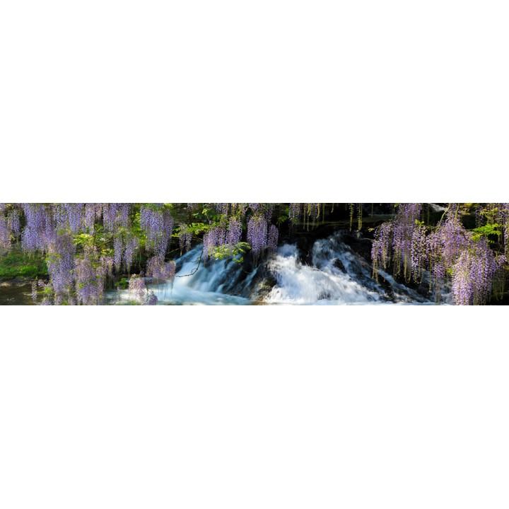 Кухонный фартук Цветы и водопад