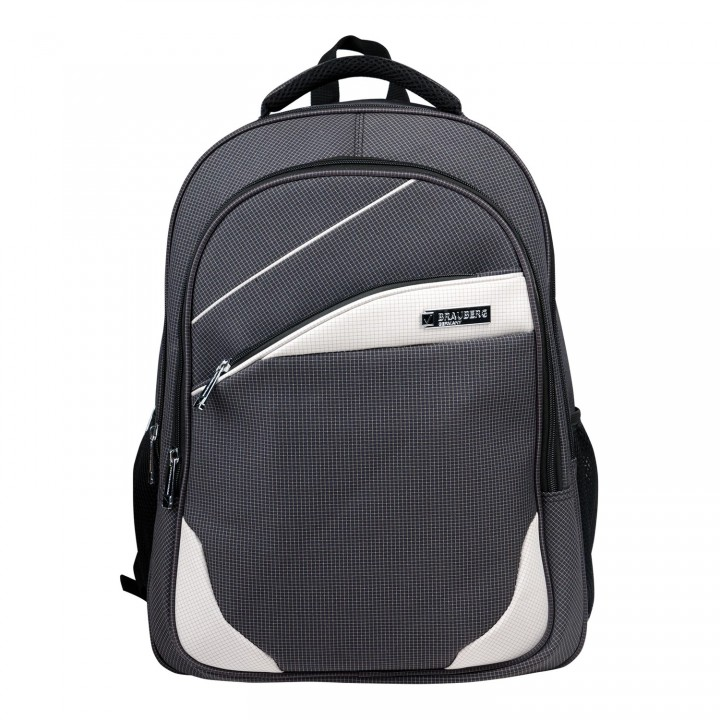 Рюкзак BRAUBERG Sprinter 30л 46х34х21 см серо-белый 224453
