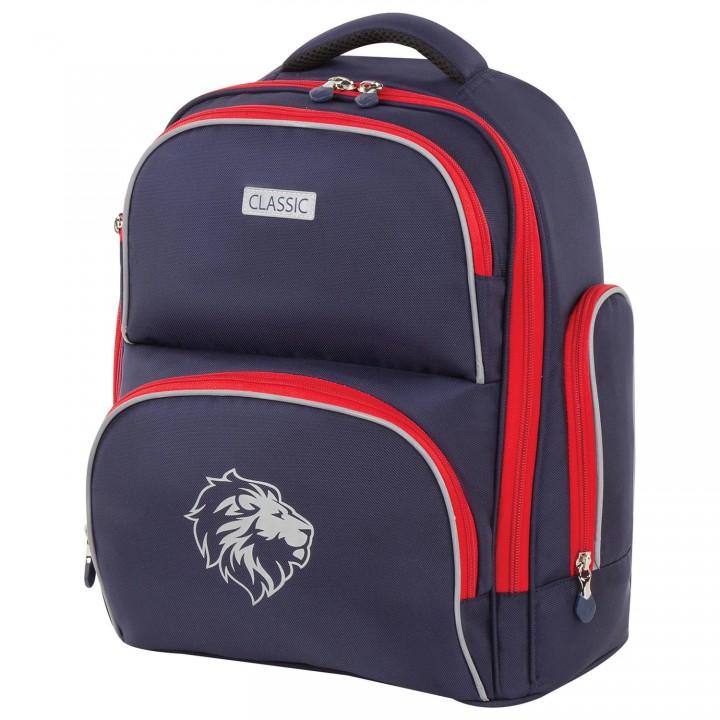 Рюкзак BRAUBERG CLASSIC Lion 18л синий 37х32х21 см 228829