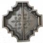 Форма для тротуарной плитки Alpha 1/3 Клевер краковский большой половинки Ф31014/1