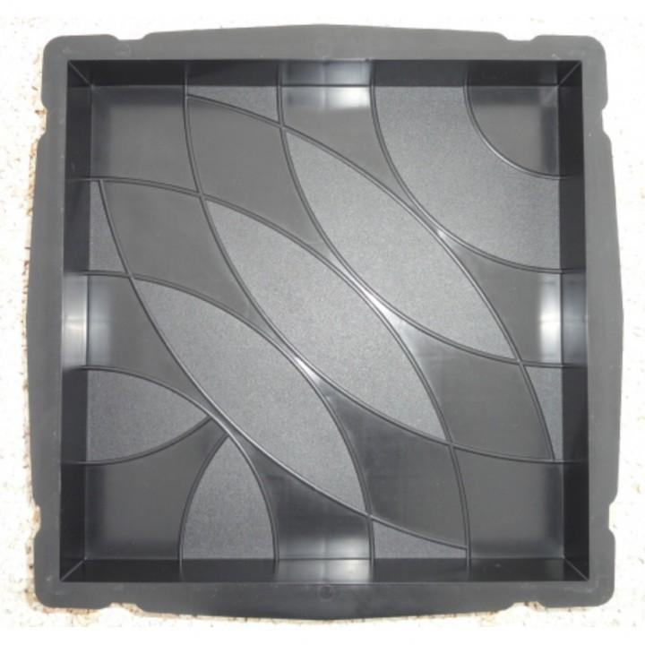 Форма для тротуарной плитки Alpha 72/5 35х35х5 Волны Ф33015