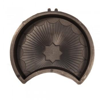 Форма для тротуарной плитки Alpha 20/2  Граль (Коло) Полукруг Ф31013