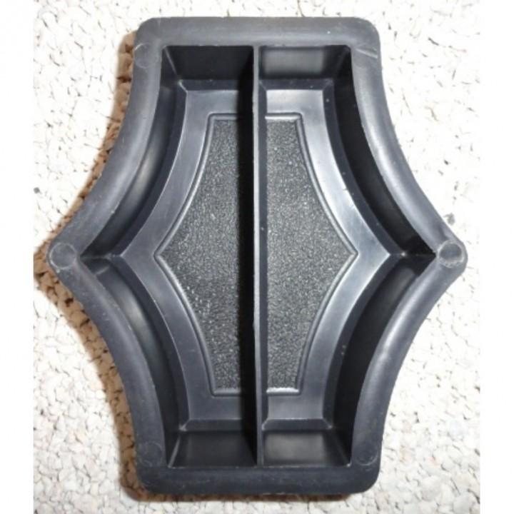 Форма для тротуарной плитки Alpha 20/6 Граль (Коло) Звезда малая половинки Ф31011/1