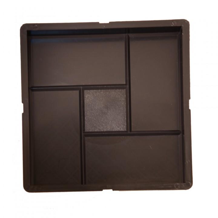 Форма для тротуарной плитки SP 30х30х3 Калифорния Ф12006