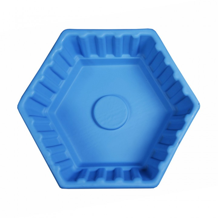 Клумба Шестигранная большая синяя