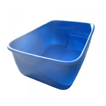 Купель прямоугольная малая синяя
