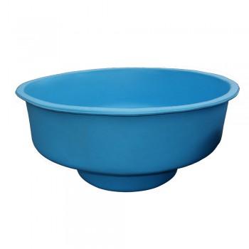 Купель с сиденьем синяя