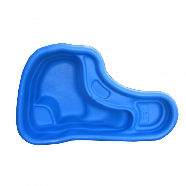 Декоративный пластиковый садовый пруд 150-2 л синий