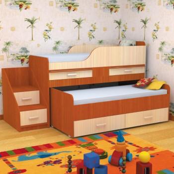 Детская кровать Пирамида Лёсики 2-х ярусная