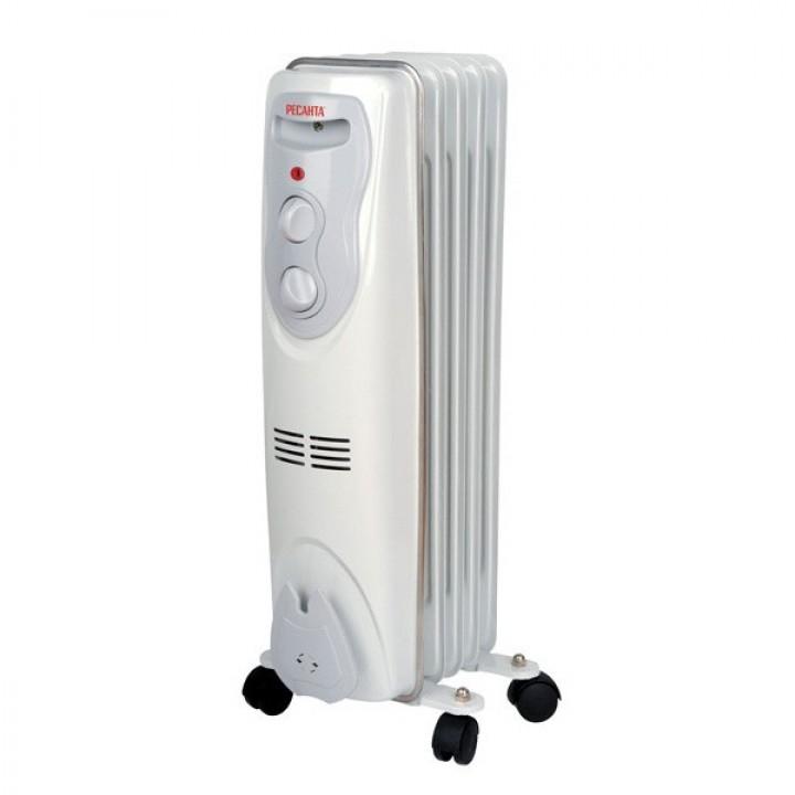 Масляный радиатор Ресанта ОМ- 5Н 1 кВт