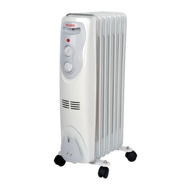 Масляный радиатор Ресанта ОМ- 7Н 1,5 кВт